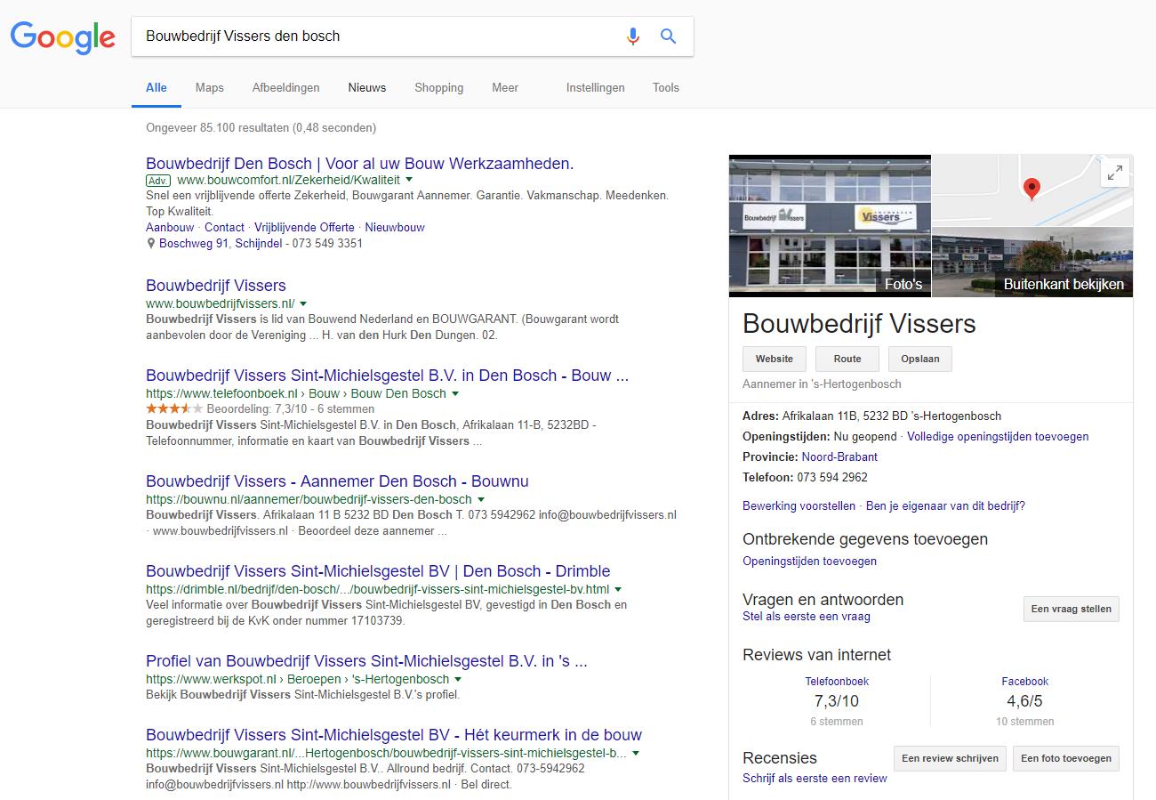 Je bedrijf vinden op Google